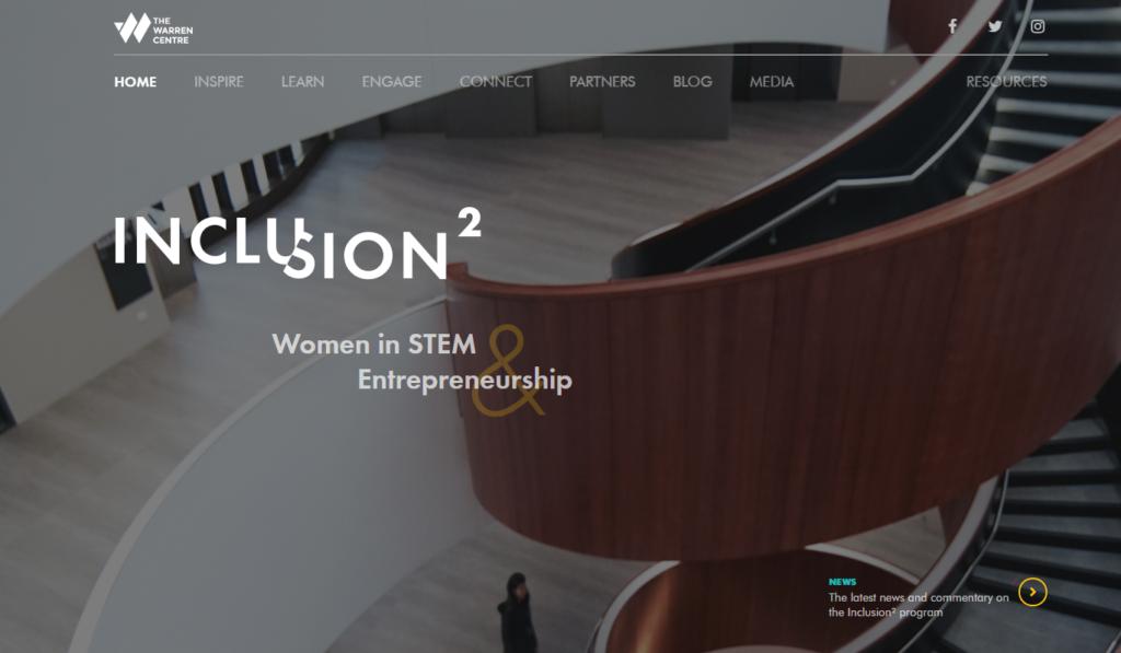 Inclusion2 homepage screenshot