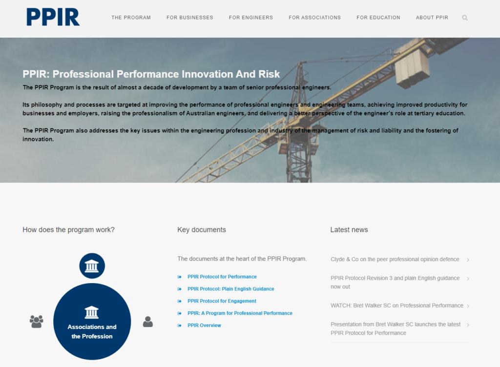 PPIR homepage